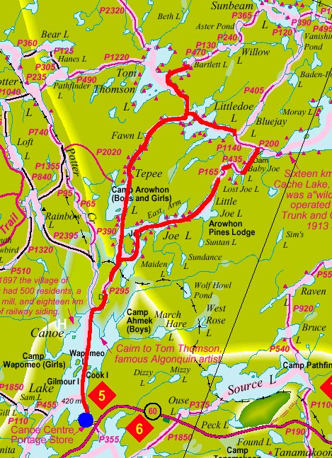 map of algonquin park